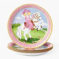 Pink Cowgirl Western Paper Plates