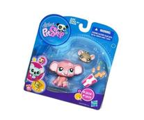 Littlest Pet Shop Pink Elephant #1808 and Mouse #1809