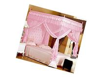 Pink Princess 4 Corners Post Bed Curtain Canopy Mosquito