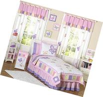 Pink and Purple Butterfly Collection Children's Bedding3pc
