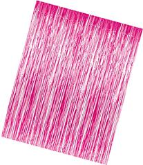 3' x 8'  Pink Tinsel Foil Fringe Door Window Curtain Party