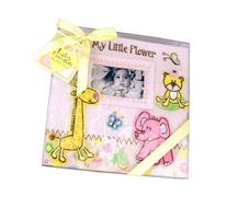 Baby Essentials Large Baby Pink Zoo Animals Baby Photo Album