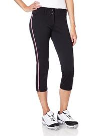 Easton Womens Pro Pipepant, Black/Red, Large