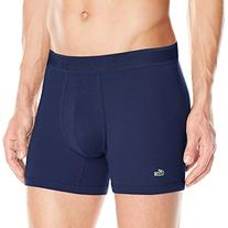 Men's Lacoste Pique Boxer Briefs, Size Large - Blue