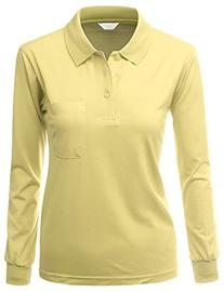 Women's Sporty ComfortablePolo Dri Fit Collar T-Shirt YELLOW