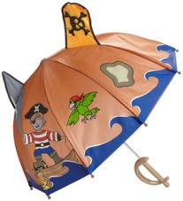 Kidorable Little Boys' Pirate Umbrella, Brown, One Size