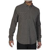 ExOfficio Men's Pisco Plaid Long Sleeve Petrol, Large
