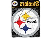 NFL Pittsburgh Steelers Micro Raschel Throw Blanket, 46 x 60-Inch