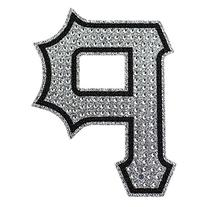 MLB Pittsburgh Pirates Bling Emblem, One Size, One Color