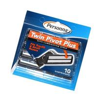 Personna Twin Pivot Plus Cartridges with Lubricating Strip