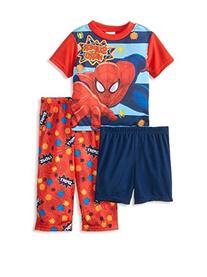 Spiderman Boys' 3 Piece PJ Set  - Spiderman - 4T