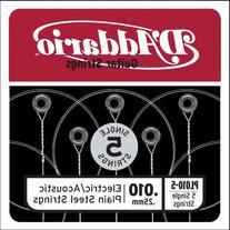 D'Addario PL010-5 Plain Steel Guitar Single String, .010 5-