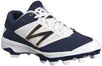 New Balance Men's PL4040V3 TPU Baseball Shoe, Navy/White, 10