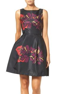 Women's Taylor Dresses Placed Floral Fit & Flare Dress, Size