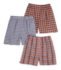 Fruit Of The Loom Men's 5 Pack Tartan Assorted Plaid Woven