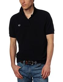 Fred Perry Men's Plain Polo, Dark Navy/White, X-Large