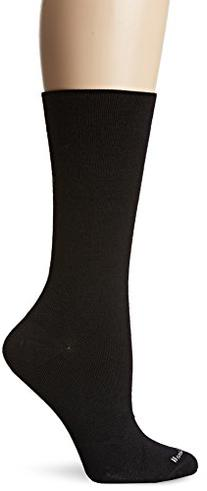 Sockwell Women's Plantar Ease Crew Socks, Black, Medium/