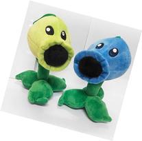 Plants Vs Zombies Series Plush Toy 2pcs Set - Peashooter