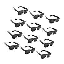 Plastic Black Vintage Retro Wayfarer Style Sunglasses Shades