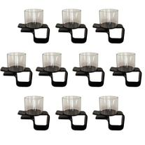 Lot of 10 Plastic Clip on Cup Holders by Brybelly