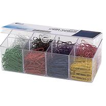 Officemate Plastic Coated Paper Clips, No. 2 Size, Assorted