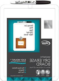 "Board Dudes 8.5"" x 11"" Plastic Frame Magnetic Dry Erase"