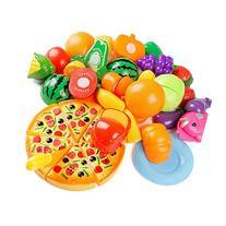 24Pcs Plastic Fruit Vegetable Kitchen Cutting Toy, YIFAN