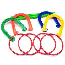 Plastic Horseshoe and Ring Toss Game Set  by K-Roo Sports