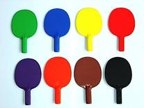 """Plastic Ping Pong Paddle - set of 6 colors, 10"""" L"""