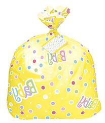 Jumbo Plastic Polka Dot Baby Shower Gift Bag