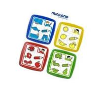 Miniland Educational 35240 Colours- 4 plastic puzzles