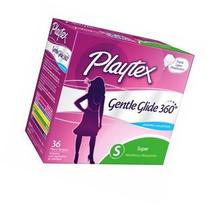 Playtex Gentle Glide 360° Plastic Tampons, Unscented,
