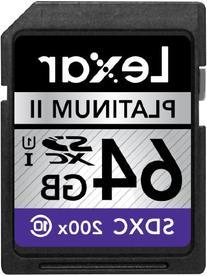Lexar Platinum II 200x 64GB SDXC UHS-I Flash Memory Card