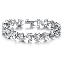 Opk Jewelry Platinum Plated Swarovski Elements Cubic