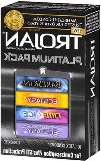Trojan Condom Platinum Pack Lubricated, 10 Count