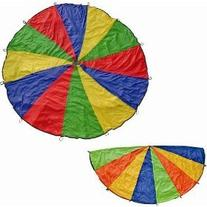 Cintz 20' Multicolored Play Parachute with 20 handles in a