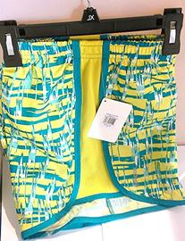 Reebok PlayDry Girl's Yellow/Teal Running Shorts size XL