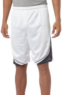 ASICS Men's Player 10 Short, White/Navy, Small