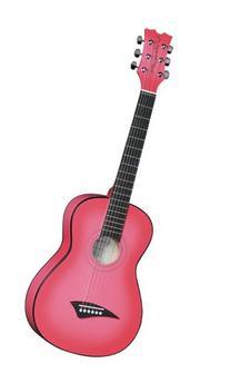 Dean Playmate Mini Acoustic Guitar, Pinkburst with Gig Bag, 3/4-Size