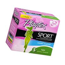 Playtex Tampon Super Unscntd Sprt 36 Ct, Pack of 6