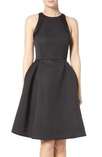 Women's Halston Heritage Pleated Fit & Flare Dress, Size 12