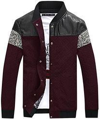 QZUnique Men's Plus Fashion Casual Jacket Big and Tall Press