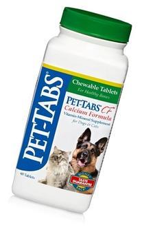 Pet Tabs Calcium Formula Supplement, 60 Count