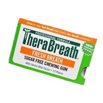 TheraBreath PLUS Chewing Gum  Three Sheets of 12 Pieces