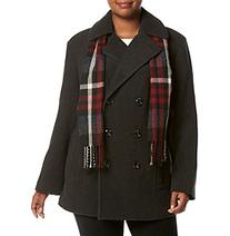 London Fog® Plus Size Double Breasted Notch Collar Coat