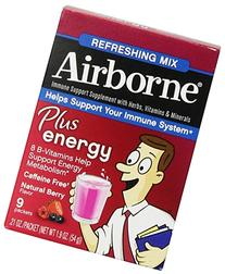 Airborne Plus Energy Drink Mix, Berry Flavor, 9 CT