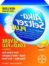 Alka-Seltzer Plus Severe Cold & Flu Effervescent, Citrus, 20