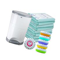 Dekor Plus Hands Free Diaper Pail with Extra Biodegradable
