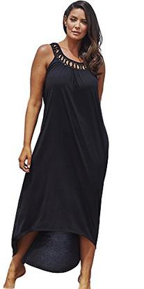 swimsuitsforall Women's Plus Size Margarita High-Low Dress