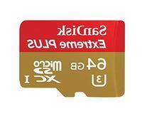 SanDisk Extreme Plus 64GB UHS-I/ U3 Micro SDXC Memory Card